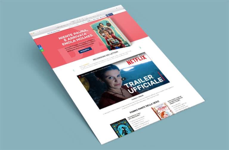 Landing Page Enola Holmes per Dea Planeta Libri