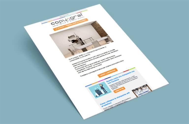 Newsletter sulla nuova tecnologia di stampa verticale