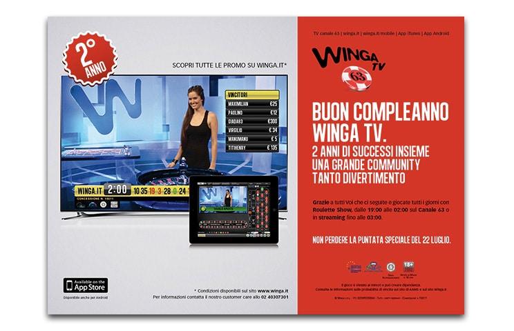 Winga Tv: show televisivo interattivo di casinò